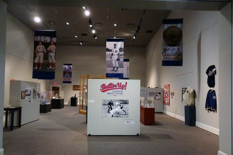 Batter Up! Celebrating America's Pastime on exhibit at the Customs House Museum & Cultural Center through July 28th.