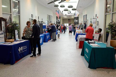 Representatives from 35 organizations including the American Red Cross, Tennessee Valley Healthcare System and Blanchfield Army Community Hospital were on hand to field questions from retirees and their spouses during the 2018 Retiree Appreciation Day at the Soldier Support Center, Fort Campbell, KY. (Fort Campbell Public Affairs archives, U.S. Army)