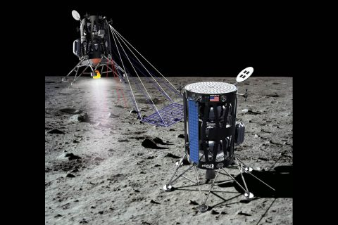 Intuitive Machines of Houston has proposed to fly as many as five payloads to a scientifically intriguing dark spot on the Moon. (Intuitive Machines)