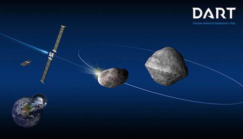 NASA's Double Asteroid Redirection Test (DART). (Johns Hopkins Applied Physics Laboratory)