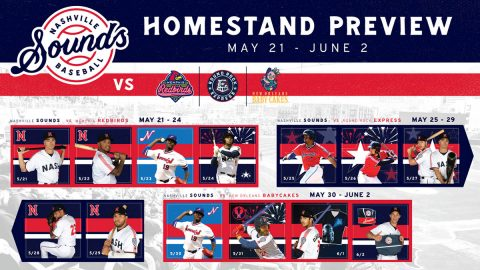 Nashville Sounds Homestand - May 21-June 2, 2019