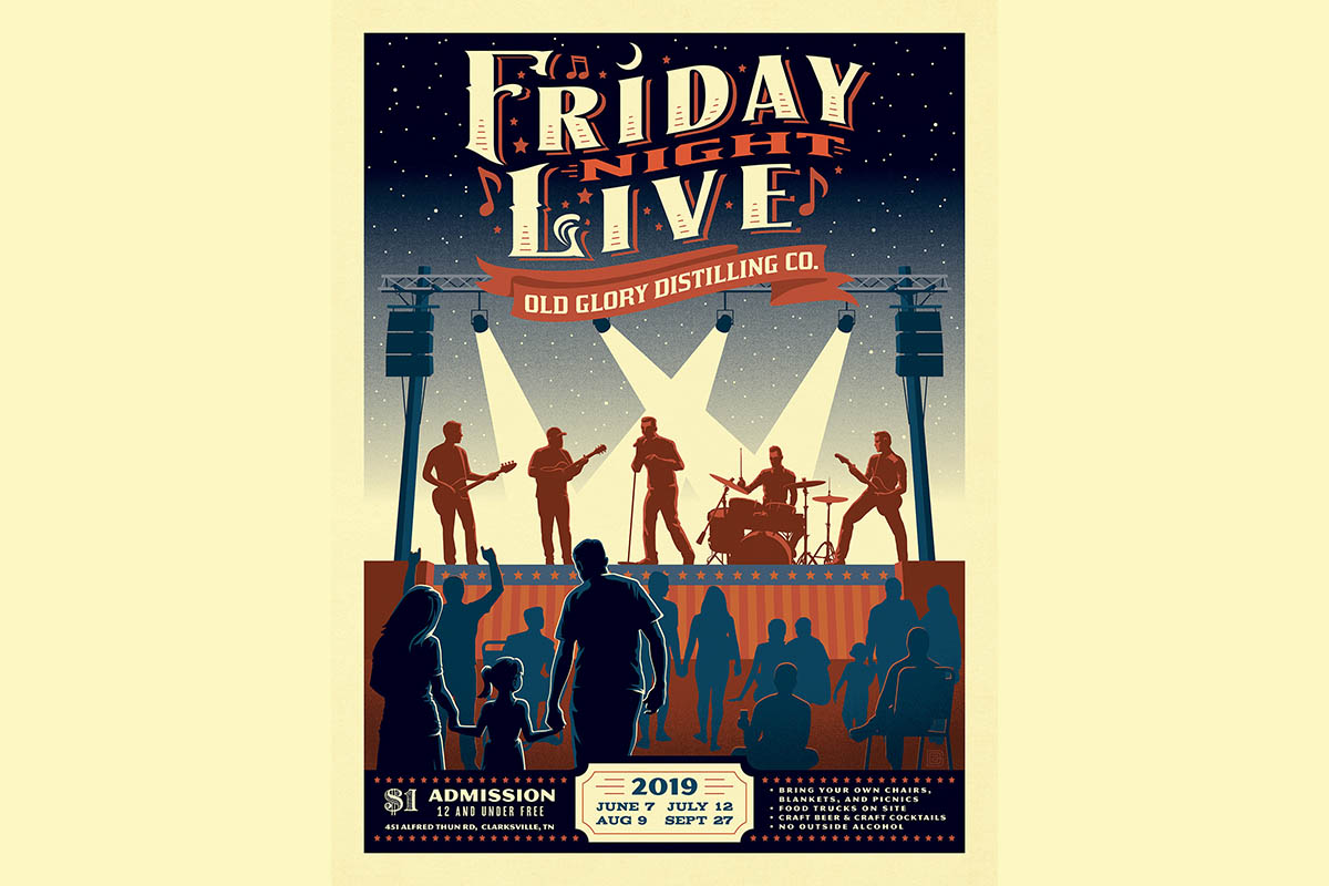 Old Glory Distilling Co. Friday Night Live Summer Concert Series