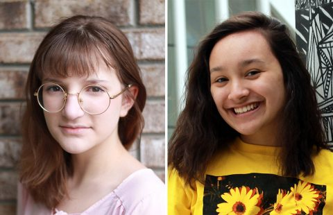 "Millie Enquist and Mallory Skernivitz star in Disney's ""Alice In Wonderland, Jr."" at the Roxy Regional Theatre, May 17th - June 8th."