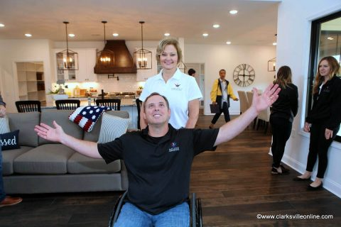 The Gary Sinise Foundation presented a specially adapted smart home to US Army CW5 Gary Linfoot (Ret.) and his wife Mari, in a ceremony Friday, May 10th, 2019.