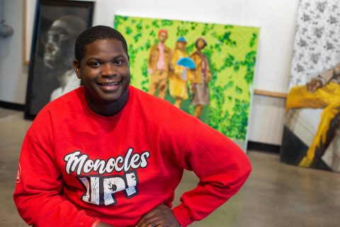 Khari Turner is one of two Austin Peay State University art graduates attending the Chautauqua Institution School of Art this summer. (APSU)