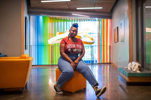 Ashanté Kindle is one of two Austin Peay State University art graduates attending the Chautauqua Institution School of Art this summer. (APSU)