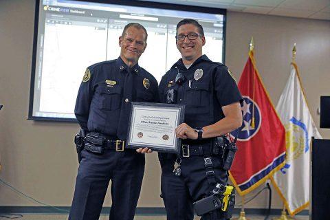 Clarksville Police Officer Brandan Hendricks.
