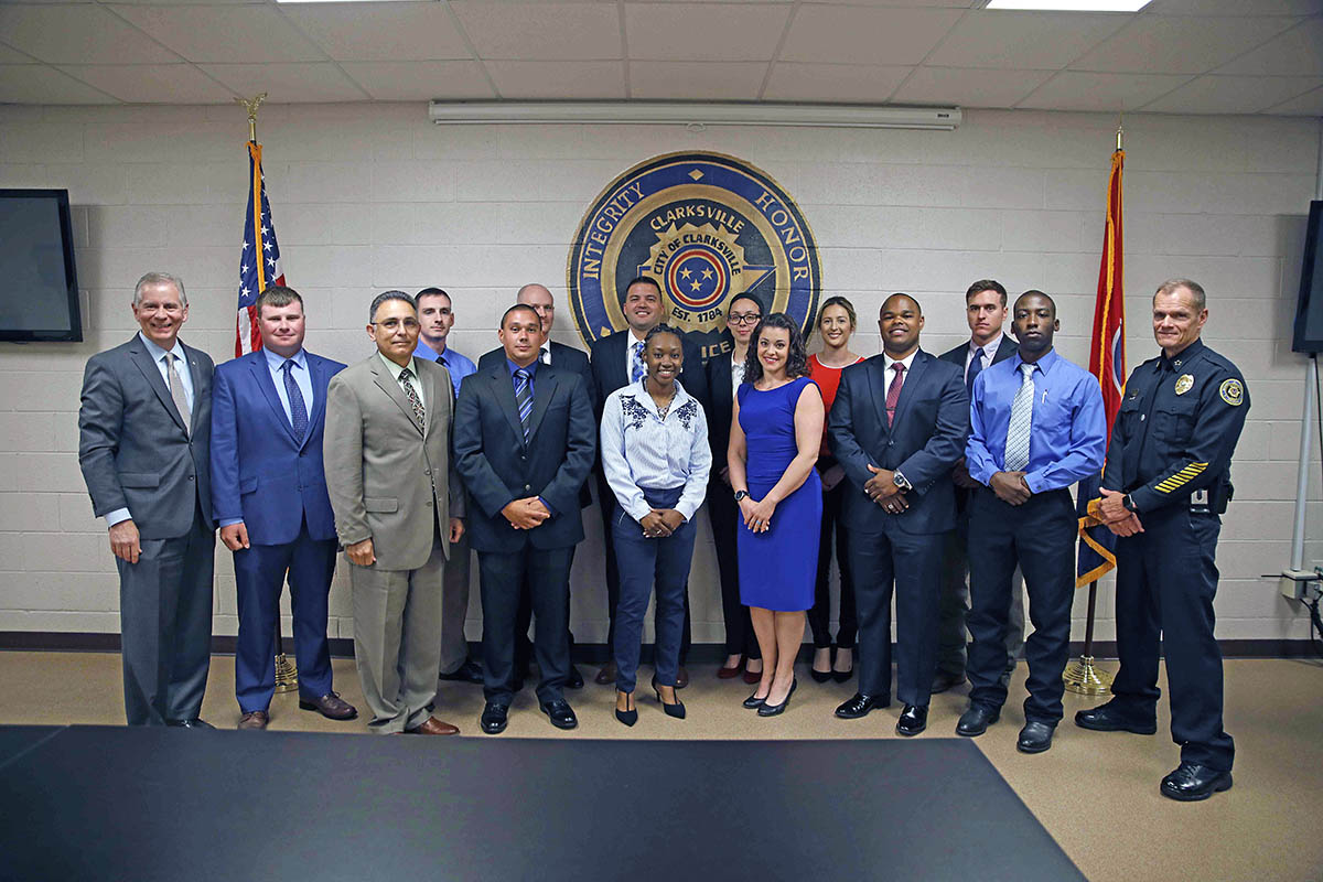 Clarksville Police have 13 New Cadets Take Oath of Office