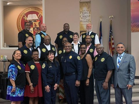 Clergy Rapid Mobilization Team volunteers recognized by the Clarksville Police Department. (Chaplain Martinez)