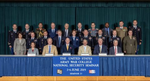 Charlie Koon of Clarksville, Tennessee (1st row, 4nd from left) joined the U.S. Army War College student body for the National Security Seminar (NSS), June 3rd-6th, 2019. Selected representatives from across the United States were invited to join the graduate-level seminar and exchange thoughts about national security topics in the capstone phase of the USAWC graduate program.