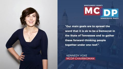 Montgomery County Democratic Party chairwoman Kennedy Voxe