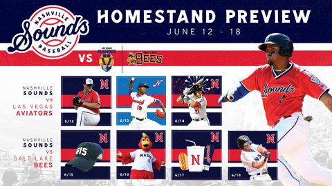 615 Night and Pride Night Highlight Nashville Sounds Homestand. (Nashville Sounds)