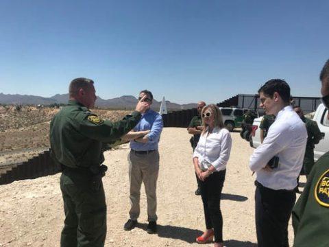 Senator Marsha Blackburn visits the Southern Border.