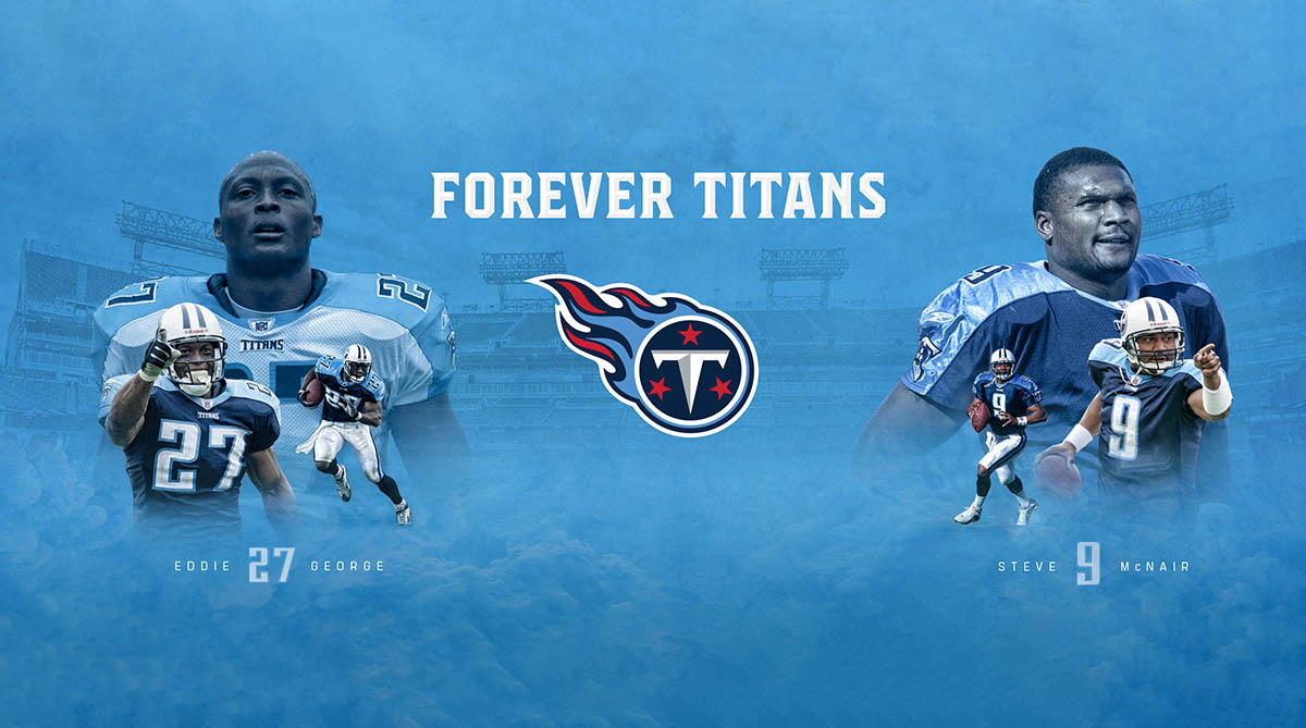 Steve McNair's No. 9, Eddie George's No. 27 Jerseys to be retired by Tennessee Titans September 15th.