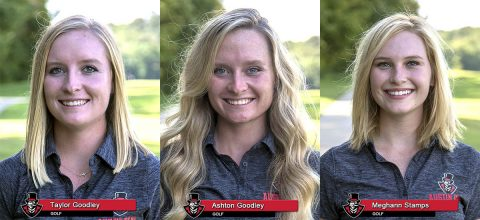 2018-19 APSU Women's Golf - Taylor Goodley, Ashton Goodley and Meghann Stamps