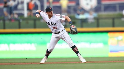 San Antonio Missions' Trent Grisham's Eighth Inning Homer Provides the Difference againt Nashville Sounds. (Nashville Sounds)