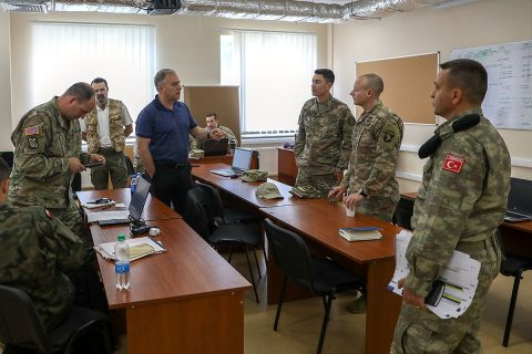 Task Force Carentan, 2nd Brigade Combat Team, 101st Airborne Division (Air Assault) and fourteen allied and partnered nations conducted the final planning conference for the upcoming Rapid Trident 2019, July 15-19, Yavoriv, Ukraine. (U.S. Army photo by Sgt. Justin Navin)