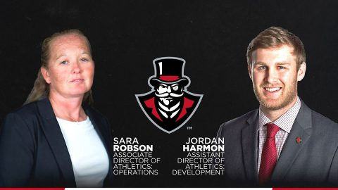 Austin Peay Athletics Department's Sara Robson and Jordan Harmon have new titles. (APSU Sports Information)