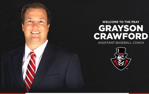 Austin Peay Baseball assistant coach Grayson Crawford. (APSU Sports Information)