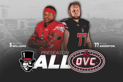 Austin Peay Football's Kentel Williams, Kyle Anderton named Preseason All-OVC. (APSU Sports Information)
