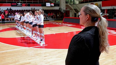 Austin Peay Volleyball head coach Taylor Mott will lead the Govs on a challenging 2019 schedule. (Robert Smith, APSU Sports Information)