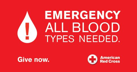 American Red Cross - Emergency All Types Needed. (American Red Cross)