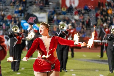 Austin Peay State University featured twirler Izzy Melvin. (APSU)
