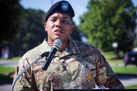 Command Sgt. Maj. Christopher Earle. (U.S. Army photo by David E. Gillespie)