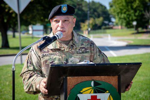 Command Sgt. Maj. Daniel Santiago. (U.S. Army photo by David E. Gillespie)
