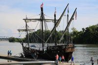 Christopher Columbus' ships the Niña and Pinta