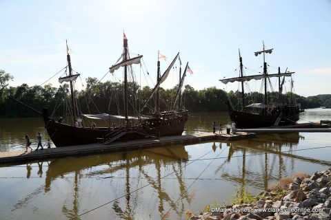 The Niña and Pinta are docked at Clarksville's McGregor Park until Sunday, July 7th. Tours are going on daily.