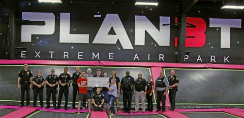 "The Clarksville Police Department and Planet 3 Extreme Air Park hosted ""Hop with a Cop"" fundraiser for the Citizens Police Academy Alumni. The event raised $457.93."