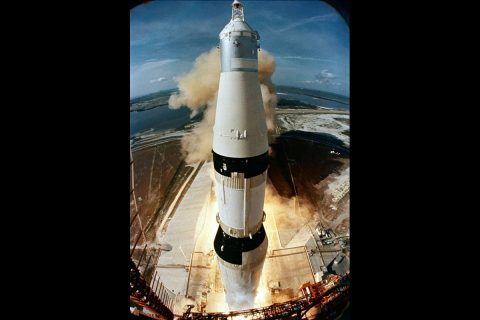 Liftoff of Apollo 11.