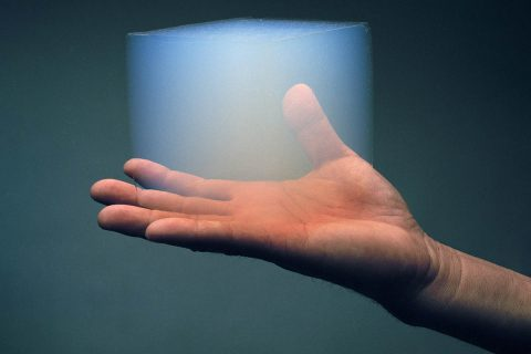 Scientists are exploring how aerogel, a translucent, Styrofoam-like material, could be used as a building material on Mars. Aerogel retains heat; structures built with it could raise temperatures enough to melt water ice on the Martian surface. (NASA/JPL-Caltech)