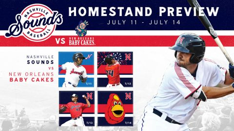 Friday Fireworks and Sunday Family Fun Day Highlight Nashville Sounds Homestand. (Nashville Sounds)