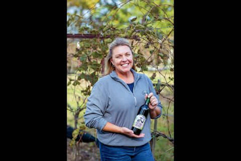 Rebecca Paschal of Cellar 53 Winery. A majority of the wines produced use Tennessee grown fruit with the majority being grown on the eight acres of grape and blackberry vineyards.