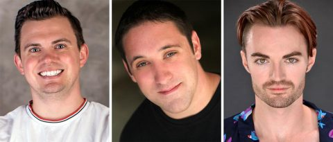 "Ryan Bowie, Bryan Plummer and Ian Alexander Erbe star in ""Charley's Aunt"" at the Roxy Regional Theatre, July 12th - July 27th."