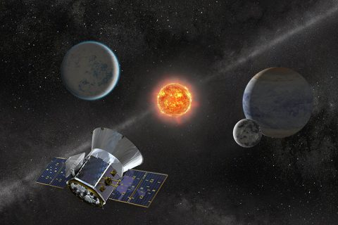 Illustration of NASA's Transiting Exoplanet Survey Satellite. (NASA's Goddard Space Flight Center)
