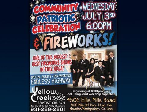 Yellow Creek Baptist Church 2019 Patriotic Celebration and Fireworks event