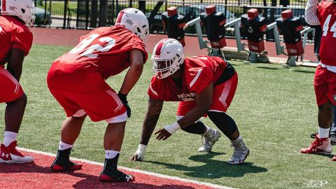Austin Peay Football kicked off fall camp with it's first practice, Friday. (APSU Sports Information)
