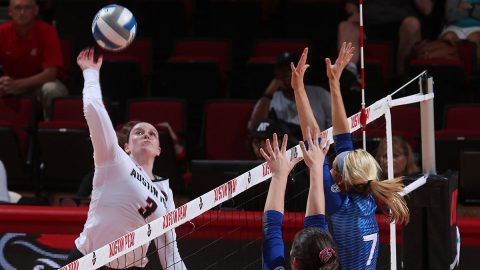 Austin Peay Volleyball junior Brooke Moore led the Govs with 18 kills against Kansas State, Saturday. (APSU Sports Information)