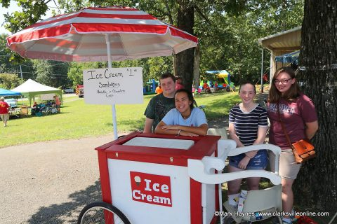 Montgomery Central Middle School Junior Civitan Club selling ice cream.