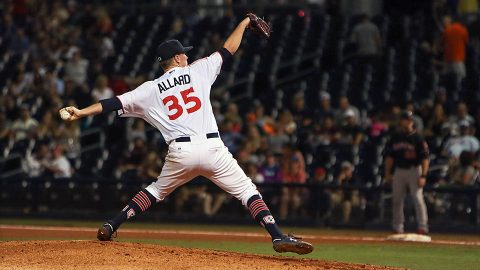 Nashville Sounds starter Kolby Allard Tossed Five Shutout Innings in loss to Albuquerque Isotopes. (Nashville Sounds)