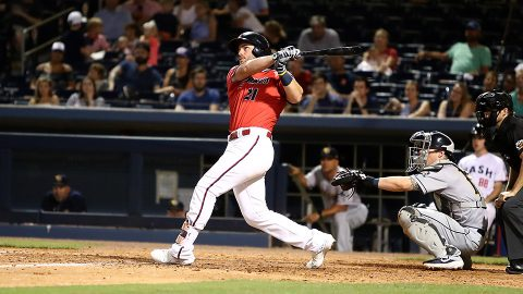Nashville Sounds Slugger Patrick Wisdom Homers in Fifth Consecutive Game. (Nashville Sounds)