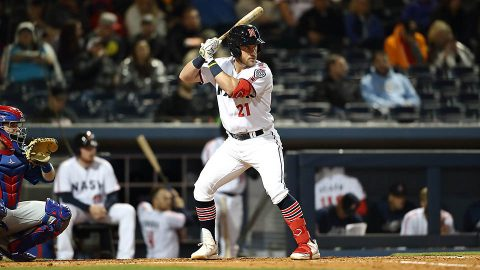 Nashville Sounds Wisdom hits two of team's season-high six home runs against Sacramento River Cats. (Nashville Sounds)