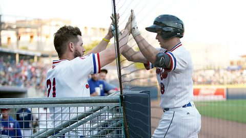 Nashville Sounds Second Baseman Nick Solak Snaps Late Tie with Go-Ahead Blast against Sacramento River Cats. (Nashville Sounds)