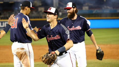 Nashville Sounds Score Seven Runs in the Seventh Inning to Defeat the Sacramento River Cats Tuesday night. (Nashville Sounds)
