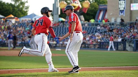 Nashville Sounds Gets Home Runs from Matt Davidson, Andy Ibanez and Patrick Wisdom in Win over Oklahoma City Dodgers. (Nashville Sounds)