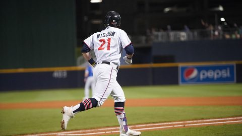 Nashville Sounds Patrick Wisdom Nails Go-Ahead Shot in the Eighth Inning was his 30th of the Year. (Nashville Sounds)