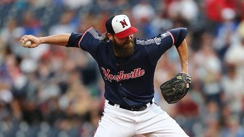 Nashville Sounds Pitcher Tim Dillard Throws First Nine-Inning Complete Game Since 2016. (Nashville Sounds)